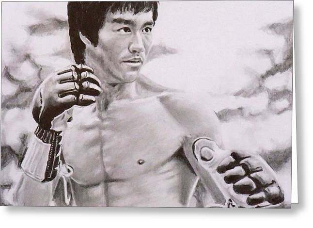 Bruce Lee - Enter The Dragon Greeting Card by Mike OConnell