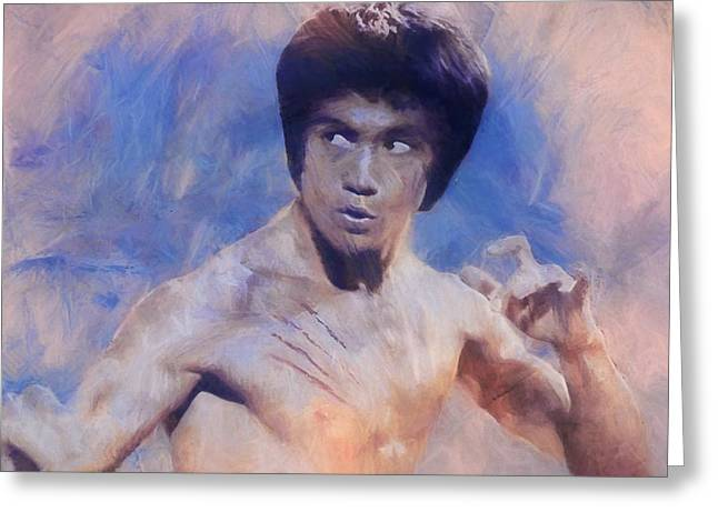 Bruce Lee Art Greeting Card by Dan Sproul