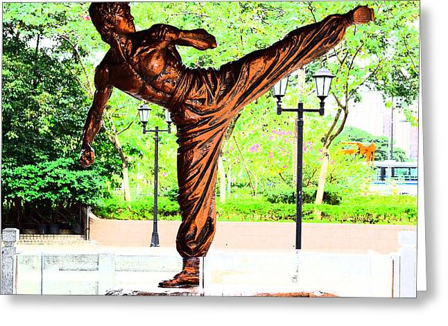 Bruce Lee At Sha Tin Greeting Card