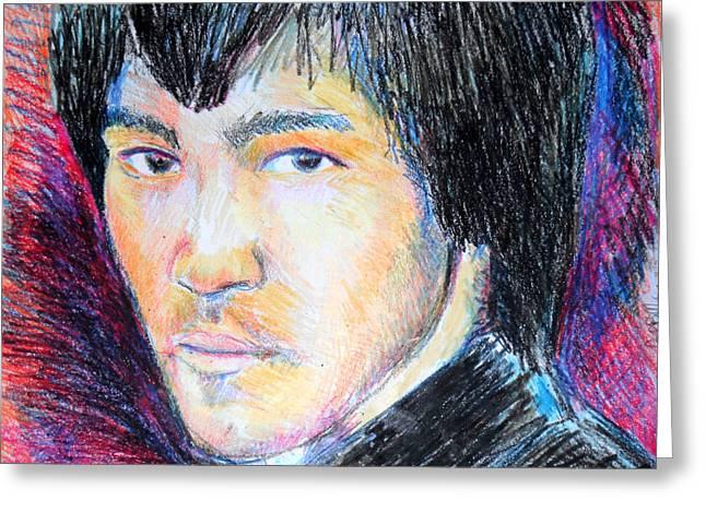 Bruce Lee  Greeting Card by Jon Baldwin  Art