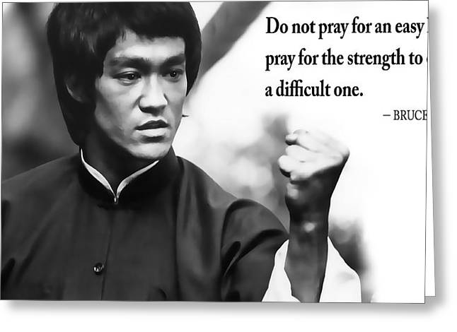 Bruce Lee On Enduring Life's Challenges Greeting Card