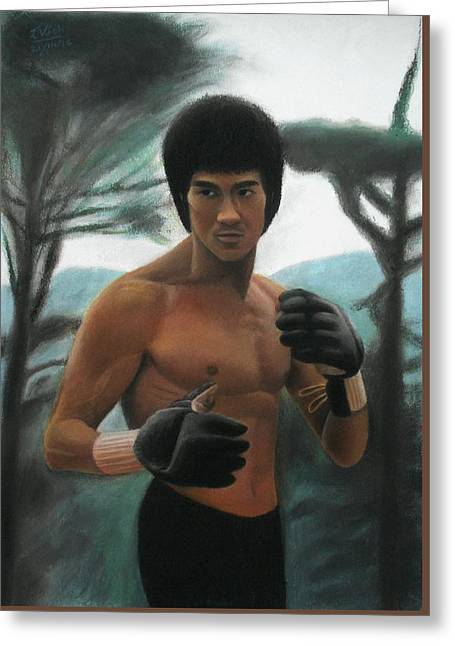 Bruce Lee - The Concentration  Greeting Card