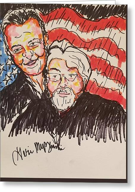 Bruce Springsteen And Bob Seger Greeting Card