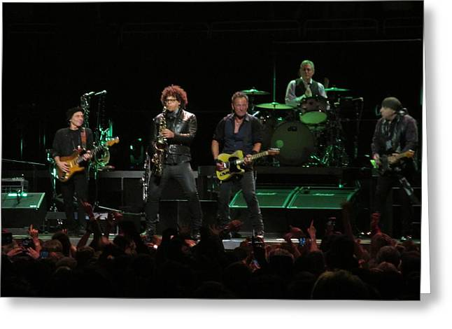 Bruce Springsteen And The E Street Band Greeting Card