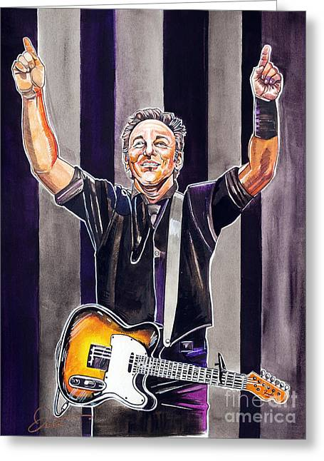 Bruce Springsteen Greeting Card by Dave Olsen