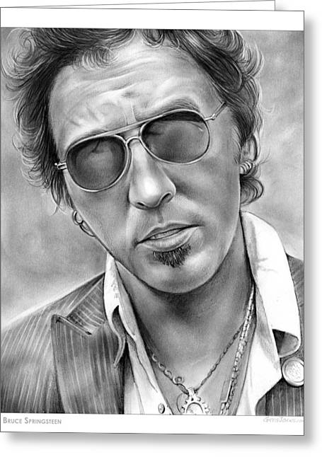Bruce Springsteen Greeting Card by Greg Joens