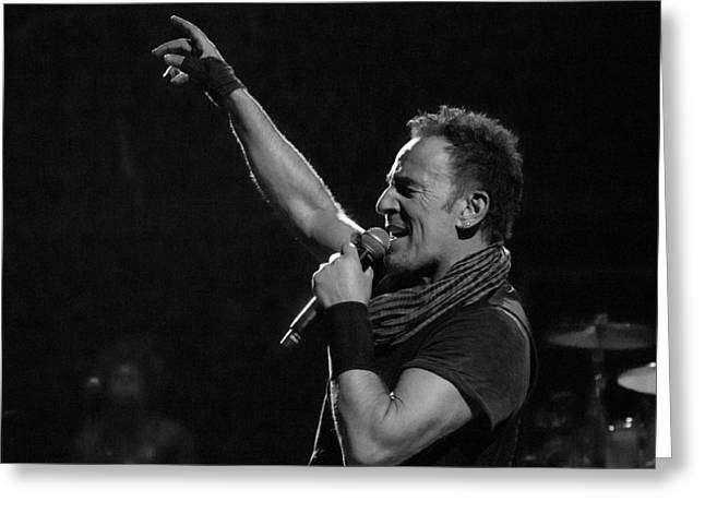 Greeting Card featuring the photograph Bruce Springsteen In Cleveland by Jeff Ross