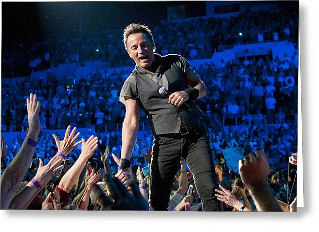 Bruce Springsteen La Sports Arena Greeting Card