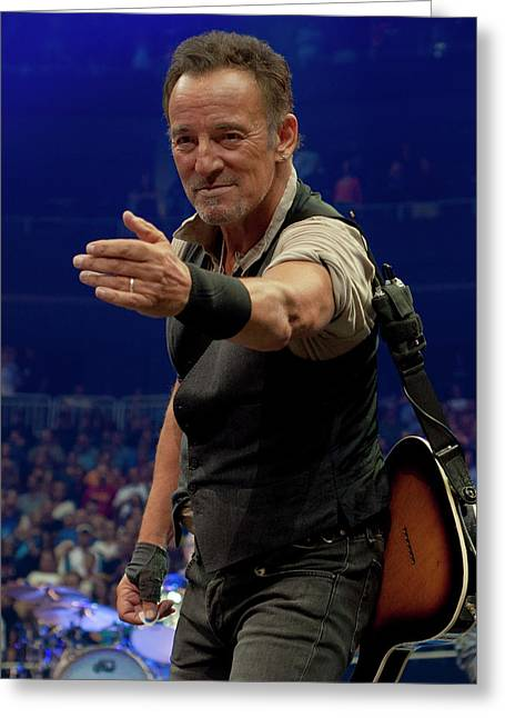 Bruce Springsteen. Pittsburgh, Sept 11, 2016 Greeting Card