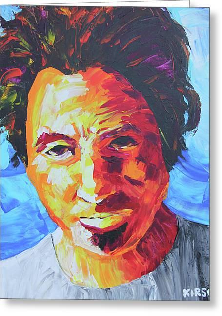 Bruce Springsteen Greeting Card by Robert Kirsch