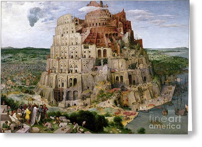 Bruegel - Tower Of Babel Greeting Card by Granger