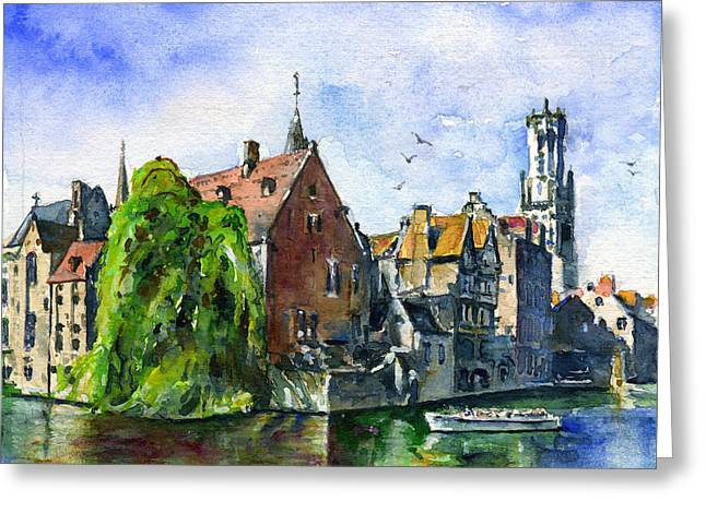 Bruges Belgium Greeting Card