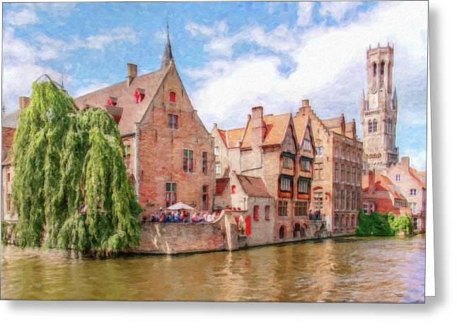 Bruges Canal Belgium Dwp-2611575 Greeting Card