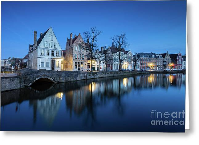 Magical Brugge Greeting Card by JR Photography