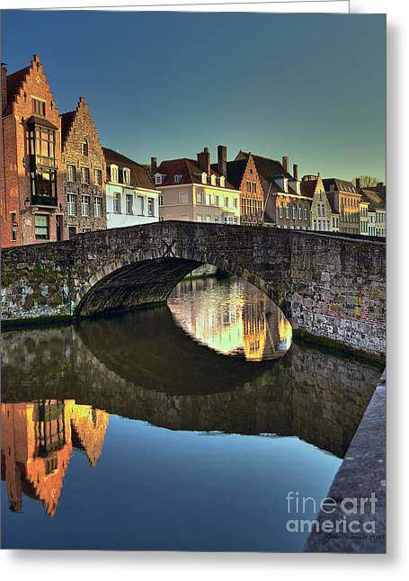 Bruges Twighlight Greeting Card