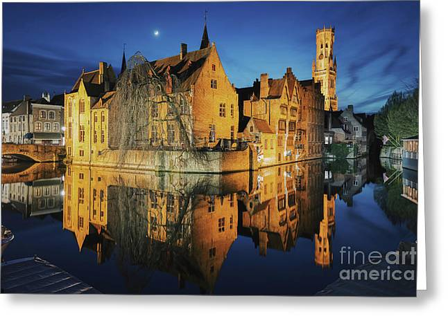 Brugge Greeting Card by JR Photography