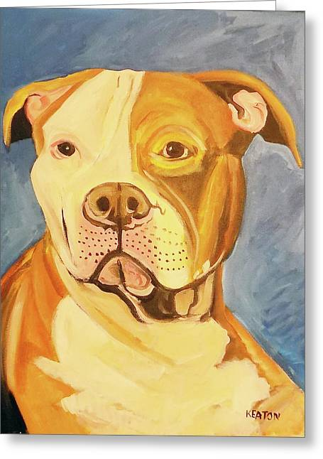 Greeting Card featuring the painting Bruiser by John Keaton