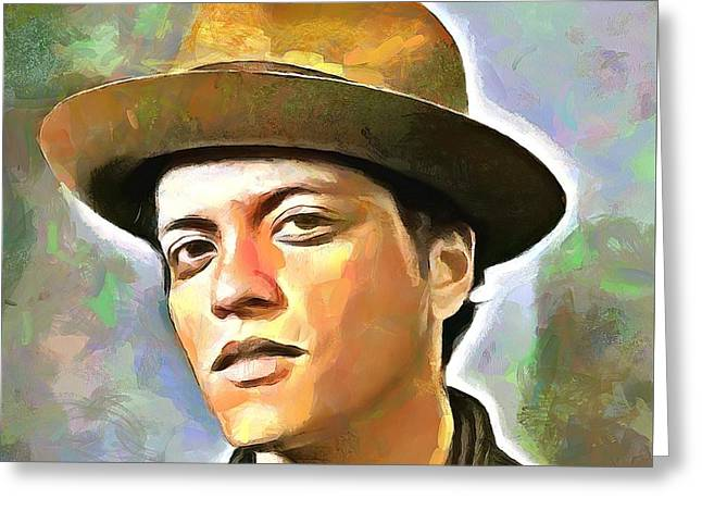 Bruno Mars Greeting Card