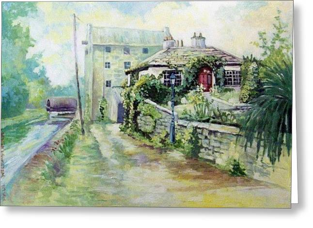 Greeting Card featuring the painting Bruree- Co Lim-ireland by Paul Weerasekera