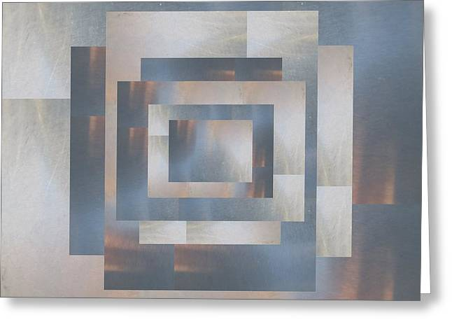 Abstract Geometric Greeting Cards - Brushed 23 Greeting Card by Tim Allen