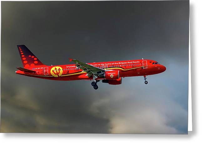 Brussells Airlines Airbus A320-214 Greeting Card