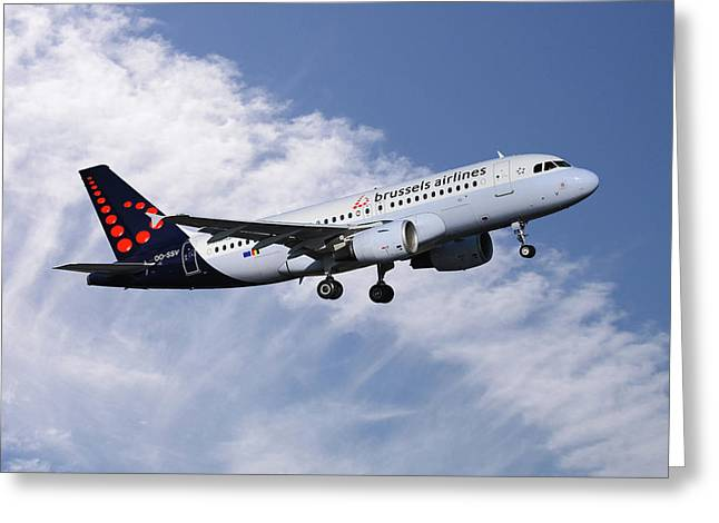 Brussels Airlines Airbus A319-111 Greeting Card