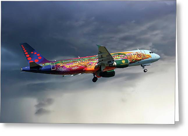 Brussels Airlines Airbus A320-214 Greeting Card