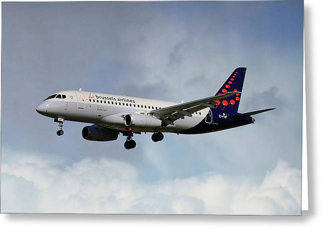 Brussels Airlines Sukhoi Superjet 100-95b Greeting Card