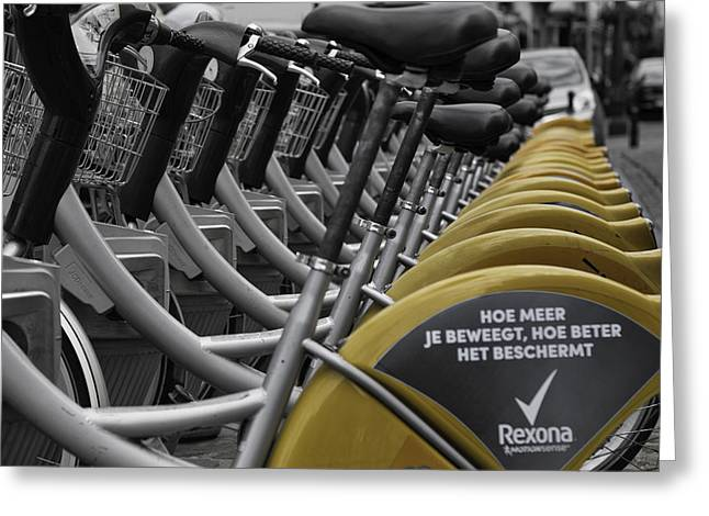 Brussels Bikes Greeting Card