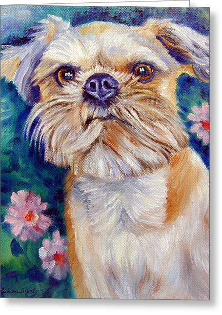 Brussels Griffon Greeting Card by Lyn Cook