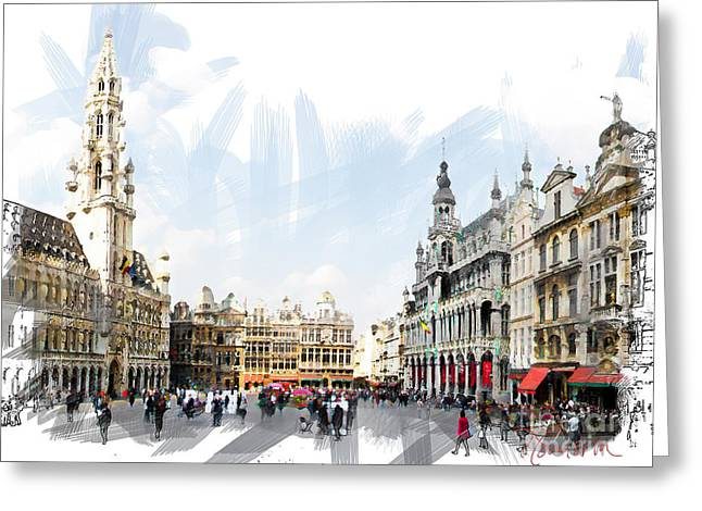 Brussels Grote Markt  Greeting Card