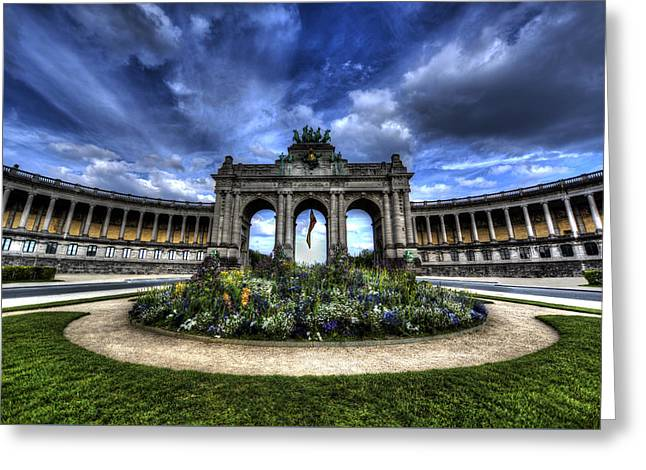 Greeting Card featuring the photograph Brussels Parc Du Cinquantenaire by Shawn Everhart