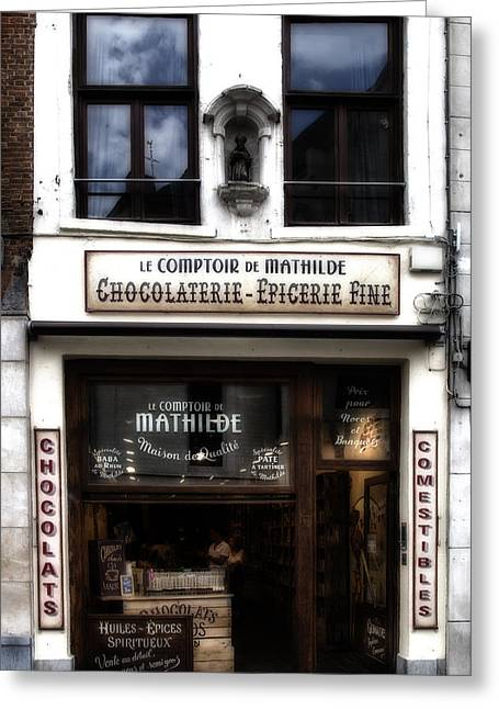 Fashion Photos For Sale Greeting Cards - Bruxelles Chocolaterie Greeting Card by Nomad Art And  Design
