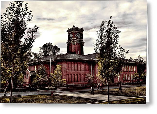 Bryan Hall On The Wsu Campus Greeting Card by David Patterson