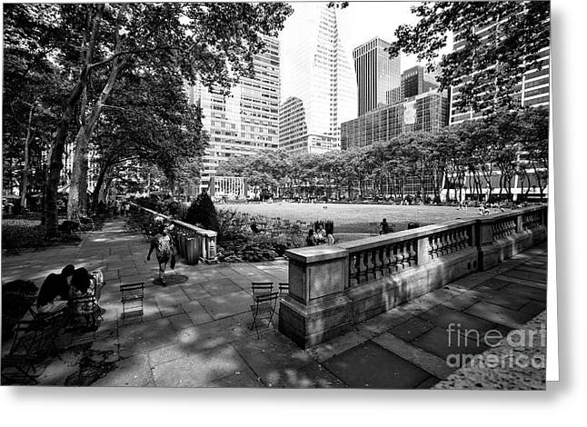 Bryant Park Angles Greeting Card