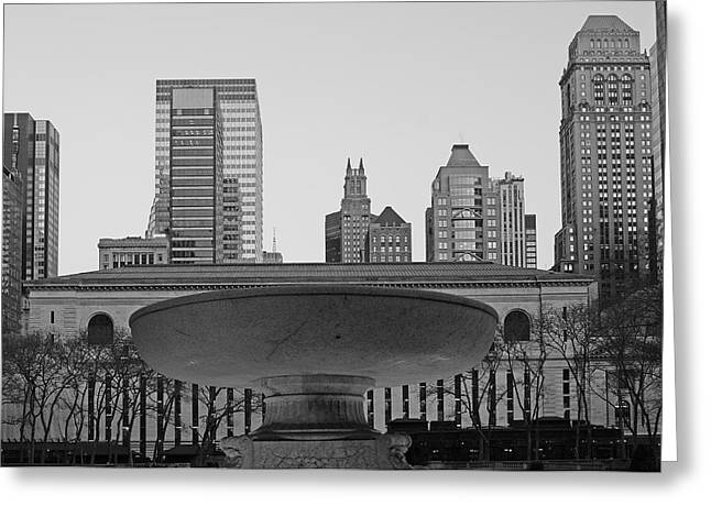 Bryant Park Greeting Card by Christian Heeb