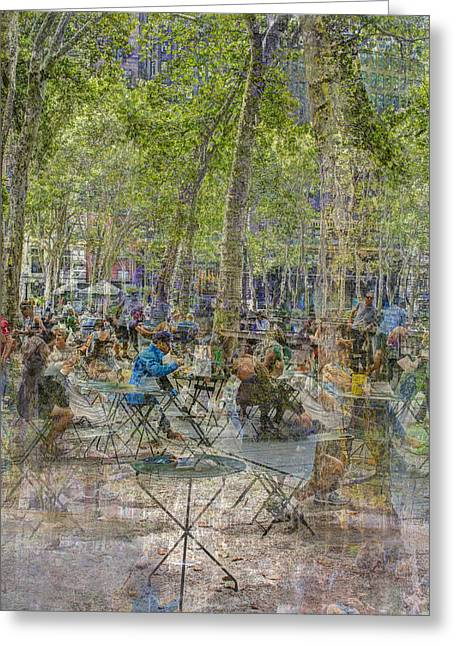 Bryant Park Collage 2 Greeting Card