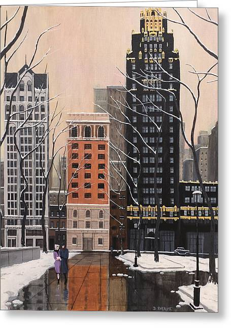 Bryant Park Greeting Card by Dave Rheaume
