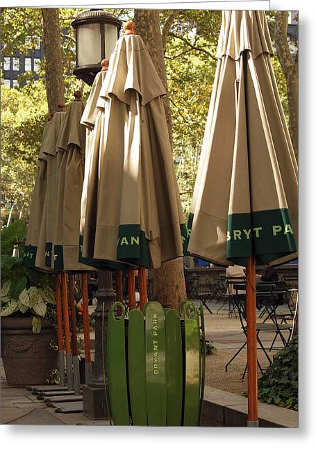 Bryant Greeting Cards - Bryant Park Greeting Card by Luis Lugo