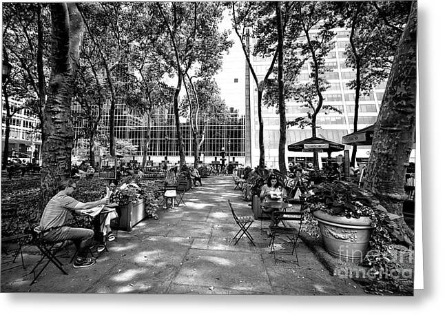 Bryant Park Reading Greeting Card