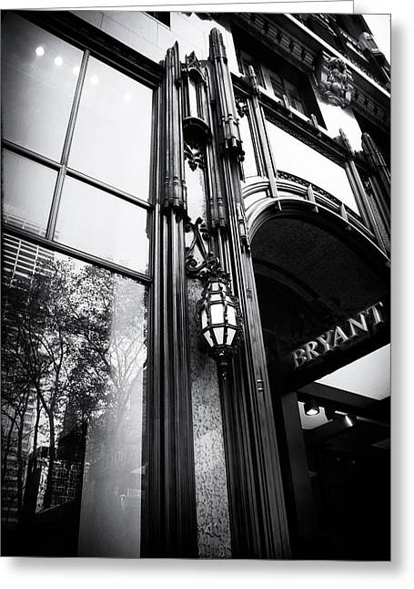 Bryant Park Reflections Greeting Card by Jessica Jenney
