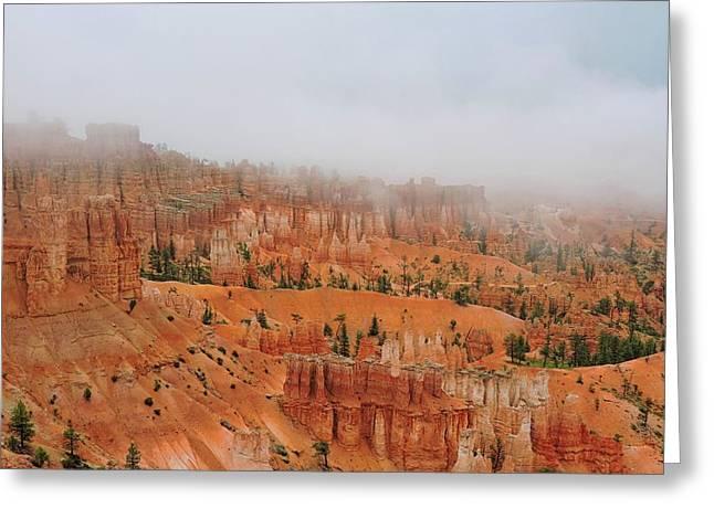 Bryce Canyon Fog Greeting Card