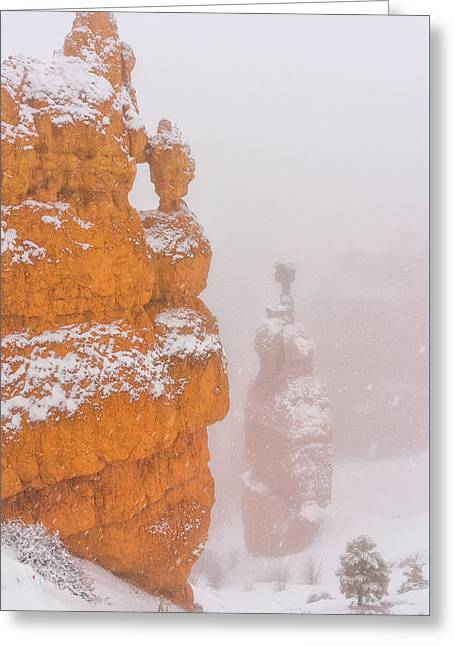 Bryce Canyon In The Snow Greeting Card by Christian Heeb