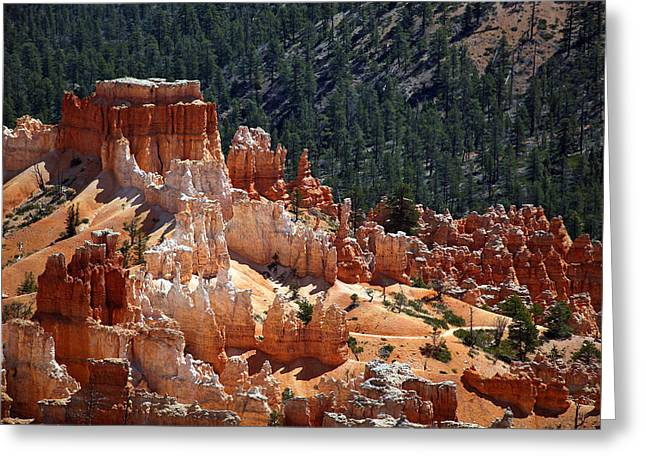 Mountains Greeting Cards - Bryce Canyon  Greeting Card by Jane Rix