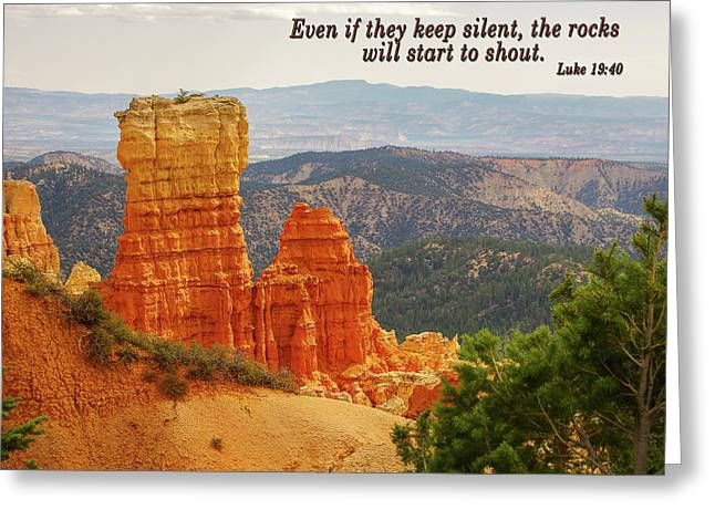 Greeting Card featuring the photograph Bryce Canyon by Jim Mathis