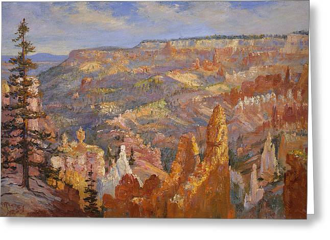 Bryce Canyon Greeting Card by Lewis A Ramsey