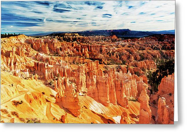 Greeting Card featuring the photograph Bryce Canyon Overlook by Norman Hall