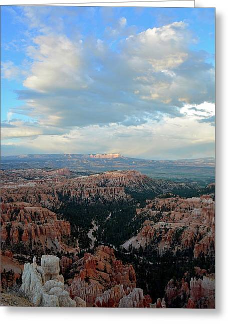 Greeting Card featuring the photograph Bryce Canyon Skyview by Bruce Gourley