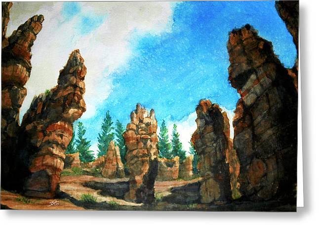 Bryce Canyon Greeting Card by Stephen Boyle