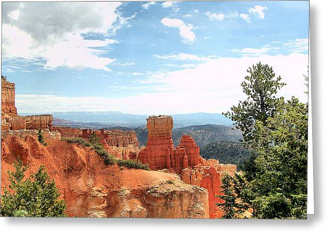 Contemporary Western Fine Art Greeting Cards - BRYCE CANYON  Utah western vista scene picture decor  Greeting Card by John Samsen